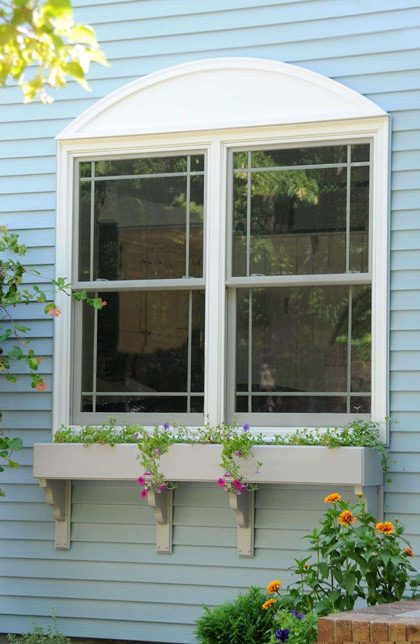 double hung window planters