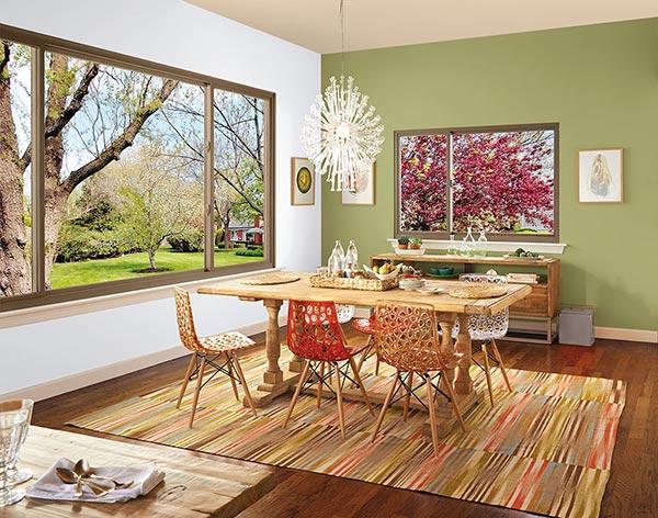 Sliding Window Installation for Dining Room